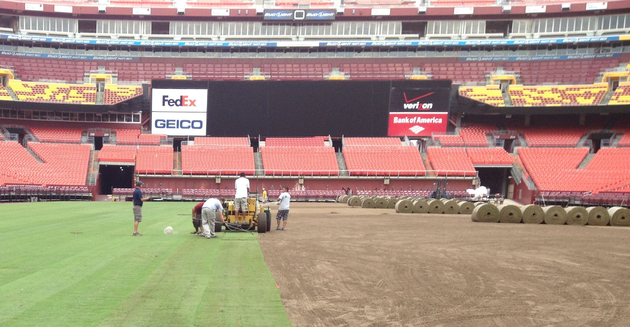 Installing Latitude 36 sod at FedEx Field