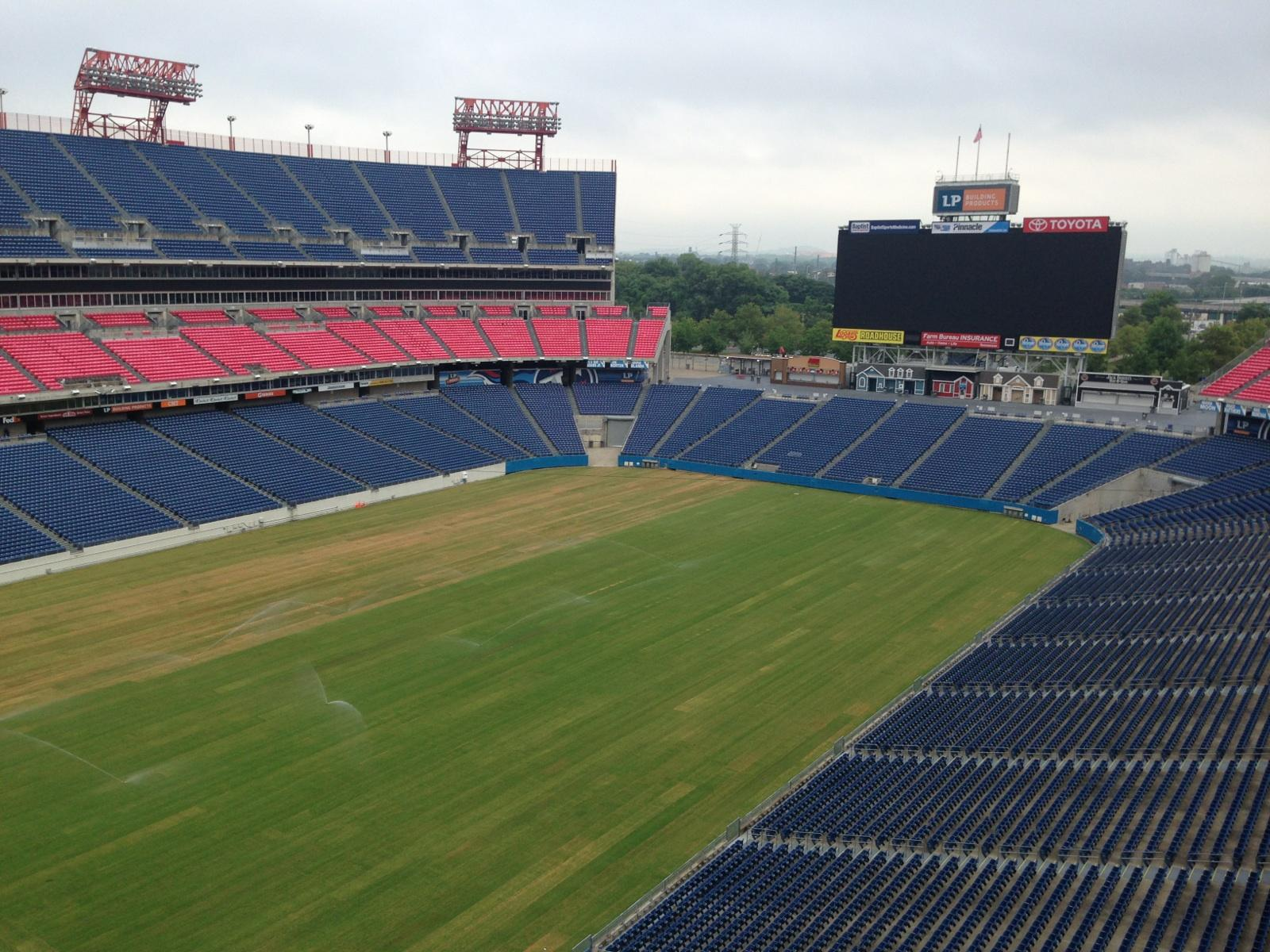 LP Field, Nashville, TN after resodding with Latitude 36